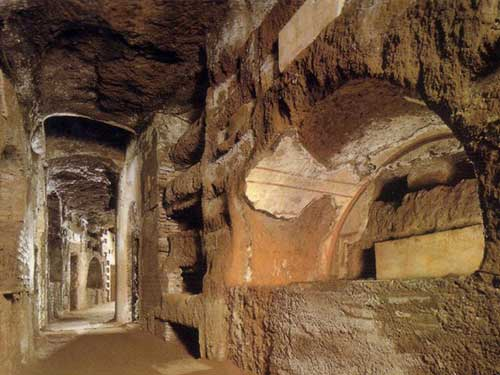 Catacomb : Underground part of early Christian cemetery which survived the over the centuries