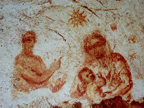 Balaam before Mary and the Child Jesus, early 3rd cent. Catacomb of Priscilla, Rome
