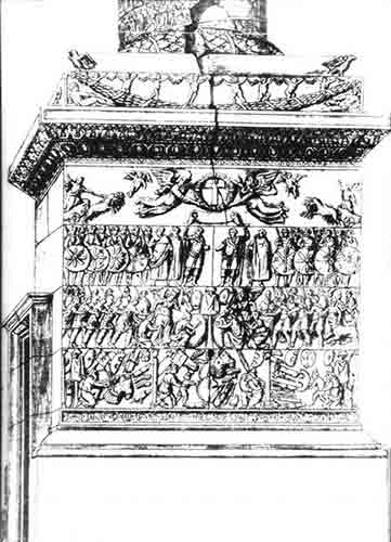 Base of the pillar of Arcadius, Constantinople